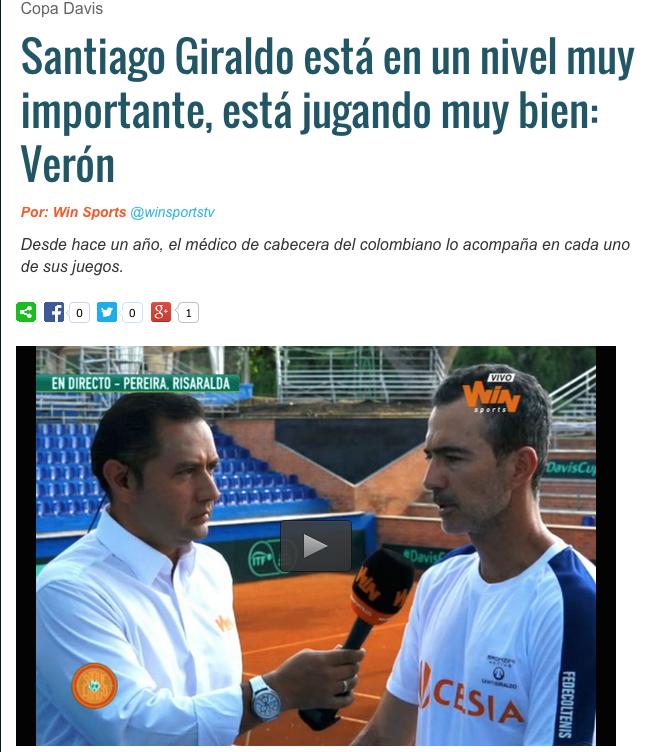 SANTI GIRALDO-WIN SPORTS.COPA DAVIS