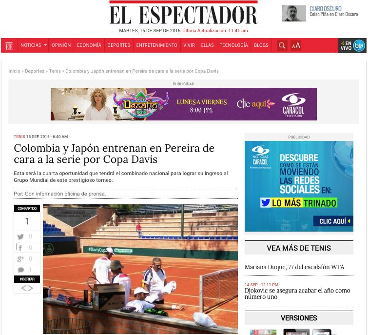 Santi giraldo, tenis colombiano, copa davis, pereira